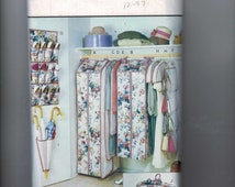 Sewing Pattern Butterick 6869 Closet Accessories Storage Bag and Hangers Craft Home Decor Shoe Hanger Purses Garment Bag UNCUT