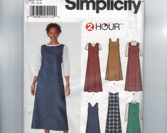 Misses Sewing Pattern Simplicity 9830 Misses Easy Jumper High Waisted Dress Size 6 8 10 12 Bust 30 31 32 34 UNCUT