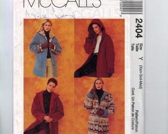Misses Sewing Pattern McCalls 2404 Misses Reversible Fleece Wool Jacket Barn Coat Hood Hooded Size 4 6 8 10 12 14 16 18 20 22 UNCUT