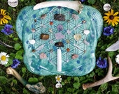 Flower Of Life Sea Turtle Crystal Grid