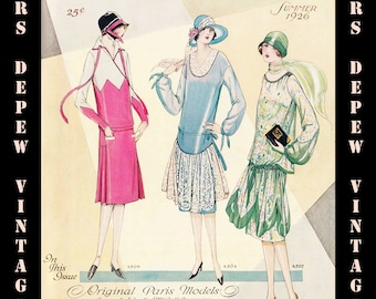 Vintage Sewing Pattern Catalog Booklet McCall Quarterly Summer 1926 PDF Digital Copy -INSTANT DOWNLOAD-