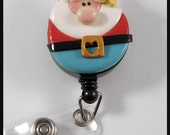 New Gnome Retractable Badge Reel Polymer Clay
