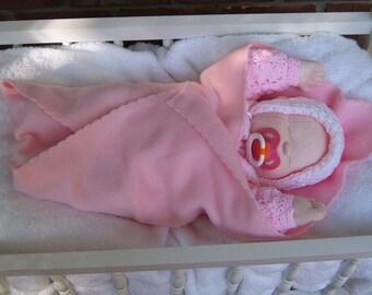Cloth baby doll, Doll, Cloth doll, Soft sculpture, Baby doll, Collector doll, Soft doll, Rag doll, Soft baby doll, Preemie baby, Newborn