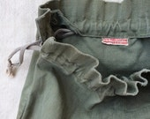 RESERVED // vintage WWII era American Red Cross New York Chapter olive drab HBT ditty bag