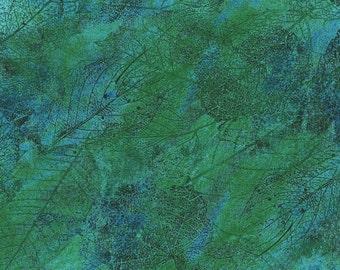 Leaves Green Delhi RJR Jinny Beyer Fabric 1 yard