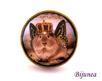 Guinea pig crown ring - Guinea pig pet ring - Guinea pig ring - Guinea pig pet ring - Guinea pig ring r797
