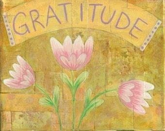 Gratitude Collage Painting