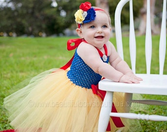 Baby Snow White Dress,Snow White Baby Costume,Baby Tutu Dress Snow White,Toddler Snow White Costume,Tulle Tutu Dress,Snow White Outfit Girls
