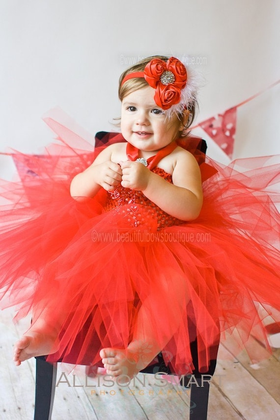 Dresses toddler christmas dress red tulle baby dresses fluffy red