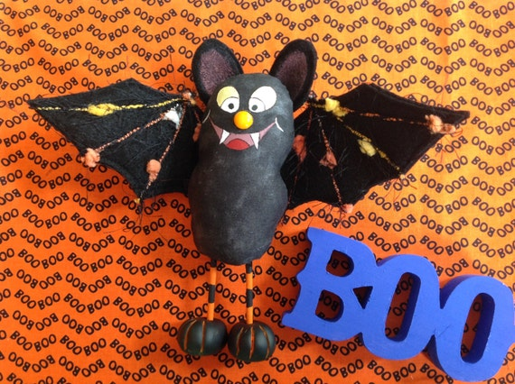Mailed Cloth Doll Pattern Silly Little Halloween Bat