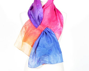 felted scarf, silk scarf,  short scarf, scarflette, collar, accessories,  kate ramsey, fabulousfelt, neckwear, lilac blue