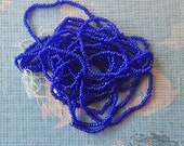 Size 18/0  Antique Micro Beads - Transparent Cobalt Blue
