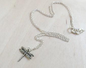 Tiny Dragonfly Necklace