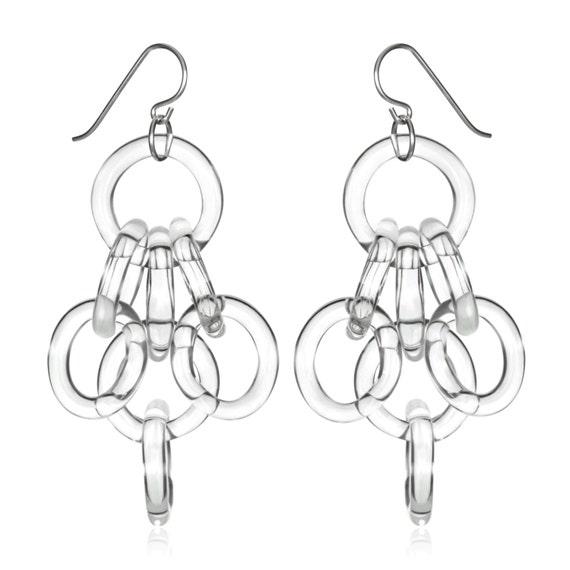 Cluster Chain Earrings