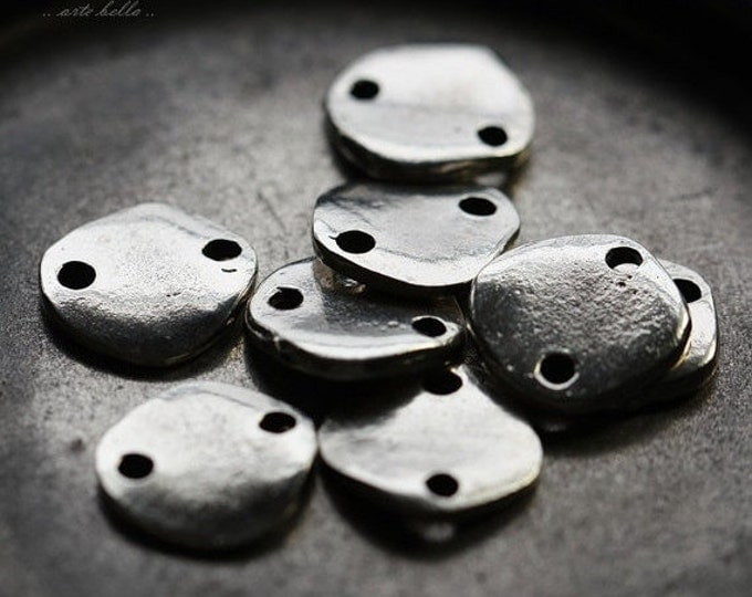 FLAKE LINK No. 50 .. 2 Mykonos Greek 2 Hole Disc Link 14mm (M50-2)