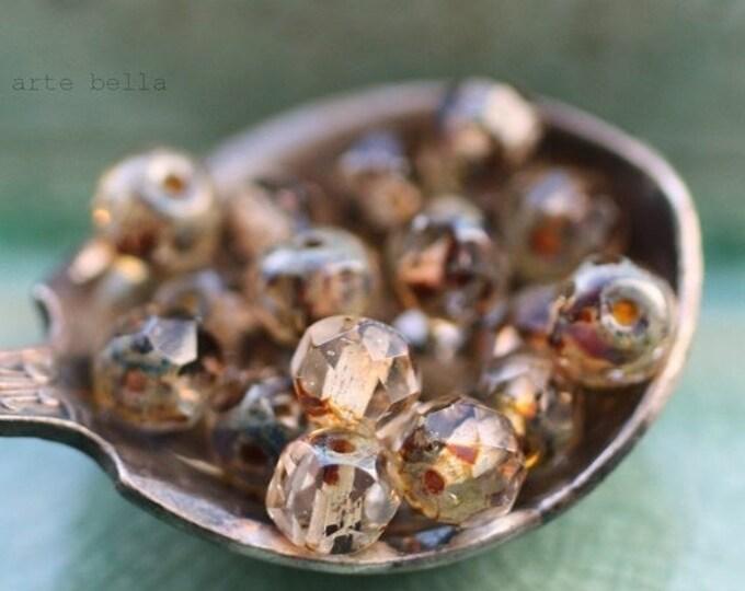 WHISPER BITS .. 30 Premium Picasso Czech Glass Rondelle Beads 3x5mm (1445-st)