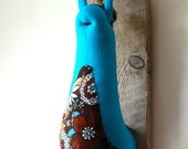 RESERVED Turquoise slug trophy, flowery retro RESERVED