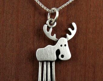 Tiny moose necklace
