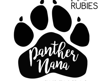 Panther Paw Nana School Pride Mascot SVG, PNG, JPG digital cut file