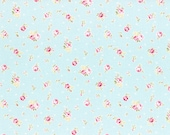 Princess Rose Fabric by Lecien - Rosey L31267-70 Blue