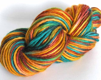 Bulky Yarn Hand Dyed Bulky Wool Yarn - Sunflower