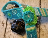 Cute Camera Strap - Camera Strap Fits Canon - Blue Lime Camera Strap - Camera Strap - Padded Camera Strap - Fashion Camera Strap - dSLR