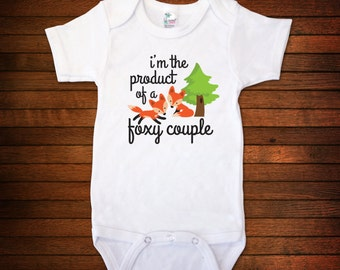 I'm The Product Of A Foxy Couple One Piece Bodysuit - Funny Baby Gift