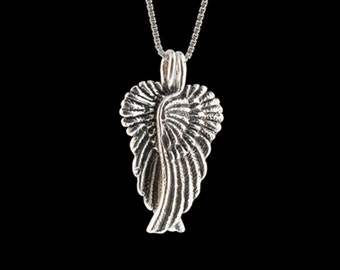 Angel Wings Necklace Gift for Her Silver Guardian Angel Wing Charm Angel Wings Angel Wing Jewelry Silver Wings Wing Necklace Wing Charms