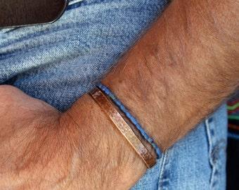mens lapis lazuli stretch bracelet, bicone matte lapis lazuli beads, rustic, boho, May birthstone, custom sizes, made to order