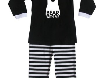 Bear with Me Silhouette Baby and Toddler Pajama Set