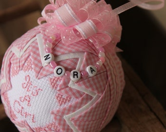 It's A Girl Ornament / Personalized/ New baby girl