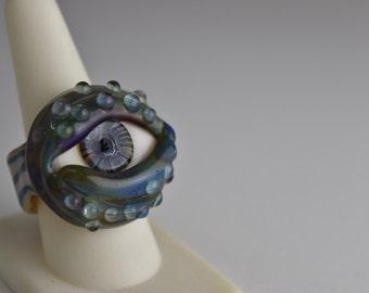 Borosilicate glass Eye Ring
