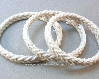 thin cord herringbone rope bracelet knotted sailor bracelet soft bangle bracelet nautical jewelry rope jewelry 3099