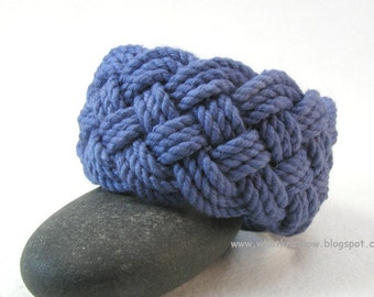 blue cotton rope bracelet turks head knot bracelet nautical bracelet knot bracelet sailor bracelet rope wristband 3865