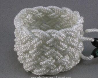 white nylon adjustable cuff rope bracelet turks head bracelet rope jewelry 1007