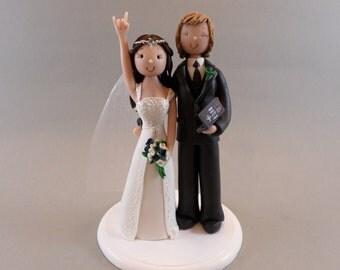 Bride & Groom Custom Wedding Cake Topper