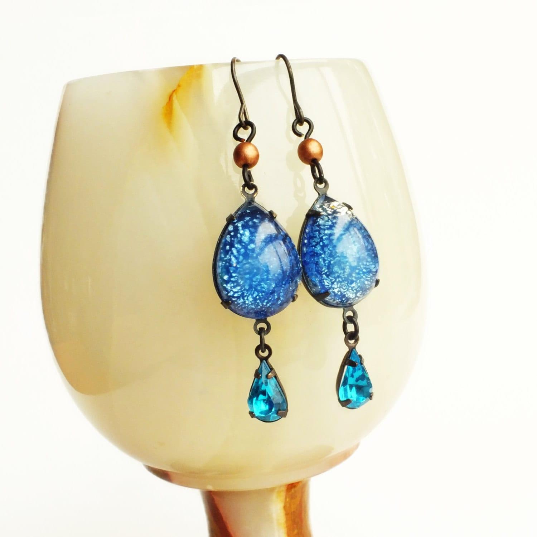 blue aquamarine opal earrings aqua blue opal jewelry victorian. Black Bedroom Furniture Sets. Home Design Ideas