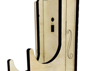 Adjustable Wall Hanger Mount Kit for Cigar Box Guitars - Handles most tuner alignments! (Product # 90-044-01)