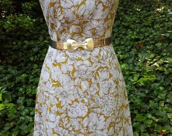 Vintage 60s Dress - 1960s Dress - 1960s Linen Dress - 1960s Graphic Print Shift Dress - Vintage Shift Dress