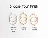 Small Hoop Earrings. 14k Rose Gold Filled, Sterling Silver, 14K Yellow Gold Filled Hoop Earrings. PAIR