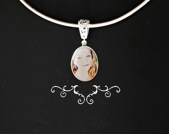Tiffany photo portrait pendant    ))) fits European style Jewelries (((
