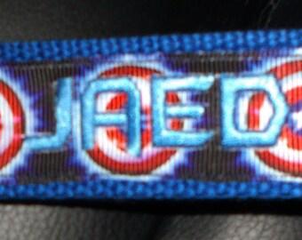 SUPERHEROES- 6-inch Superhero Fabric Keychain/Keyfob/Wristlet-Captain America