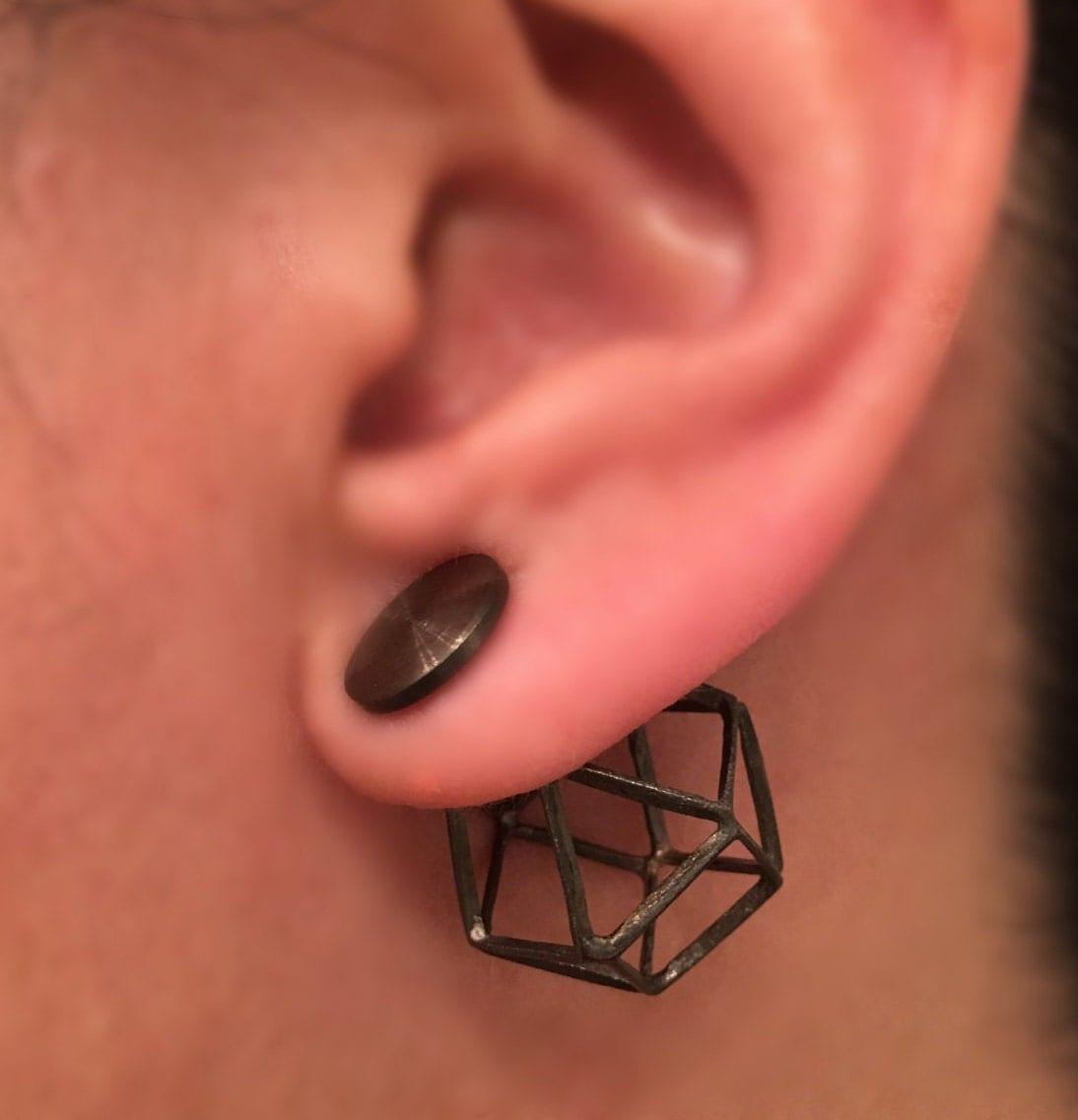 Butterfly Cage Front Back Earrings Front Back Earrings Ear