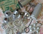 Vintage Aluminum Cake Decorator Cookie Maker Press Lot 25pc