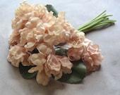 Vintage Pale Pink Hydrangea Millinery Flowers Bouquet