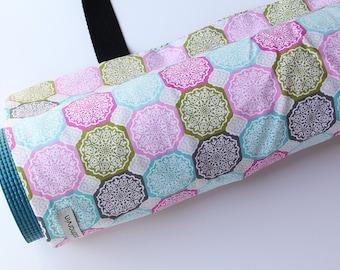 Yoga Mat Bag, Yoga Mat Carrier, Yoga Mat Sack, Pink, Green, Colorful, Gift for Yoga Lover