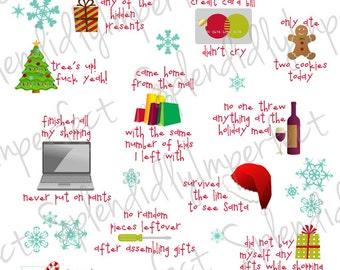 Surviving Christmas Planner Stickers