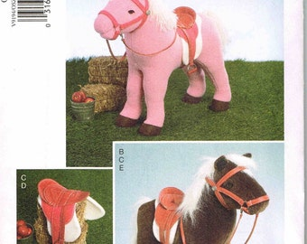 Plush Doll Horse and Saddle Bridle Blanket Equestrian Sewing Pattern Vogue 9194  Designed By Linda Carr Uncut Factory Folded