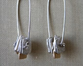 Stacked Square Sterling Silver Earring