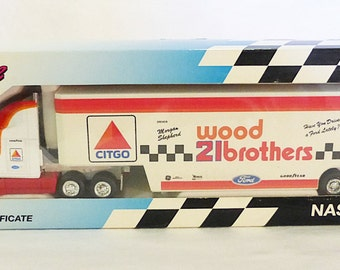 Vintage mettel Nascar race image citgo wood 21brothers truck car limited edition